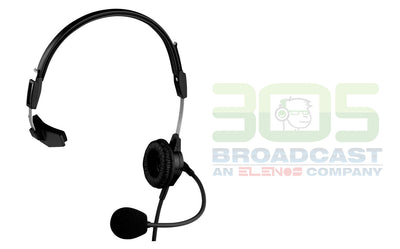 TELEX PH-88E Single-Sided Lightweight Headset, 12' (36M) Coiled Cord, (A4F Connector)