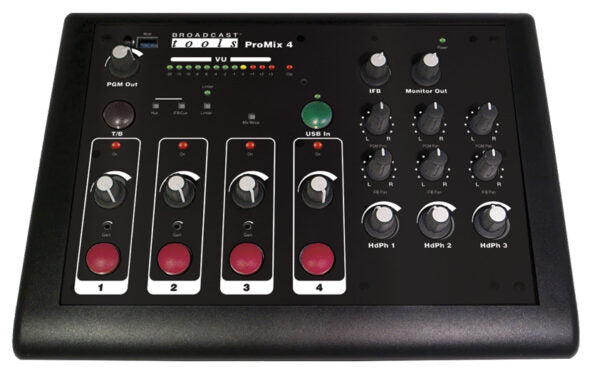 Broadcast Tools ProMix-4 – Four Channel Mixer with USB - 305broadcast