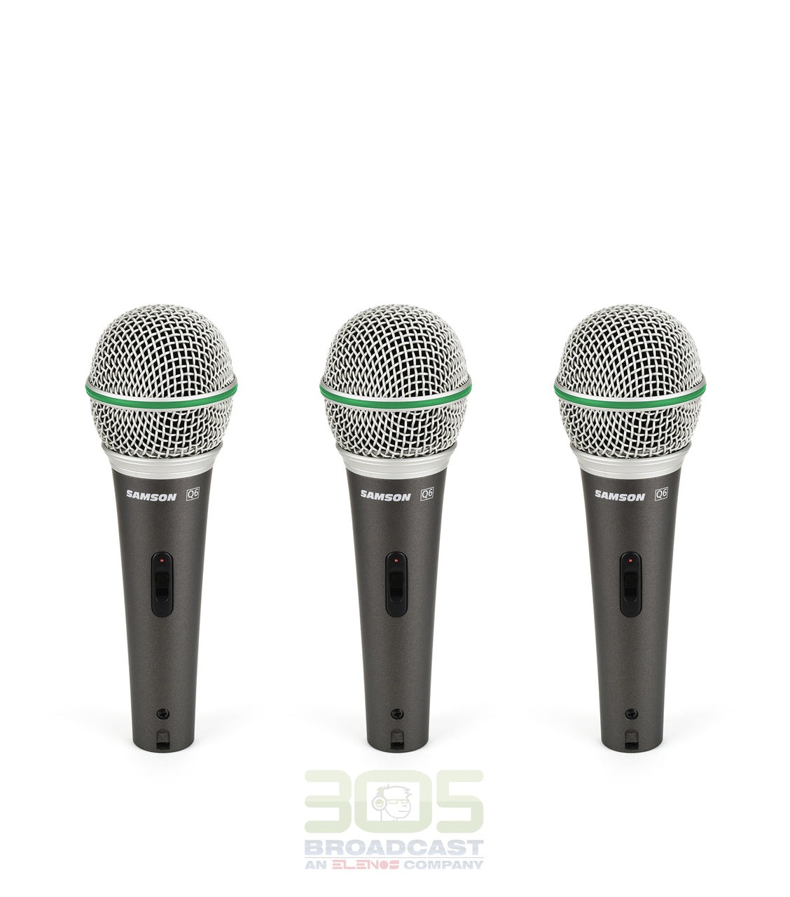 Samson Q6 Dynamic Microphone (3-Pack) - 305broadcast