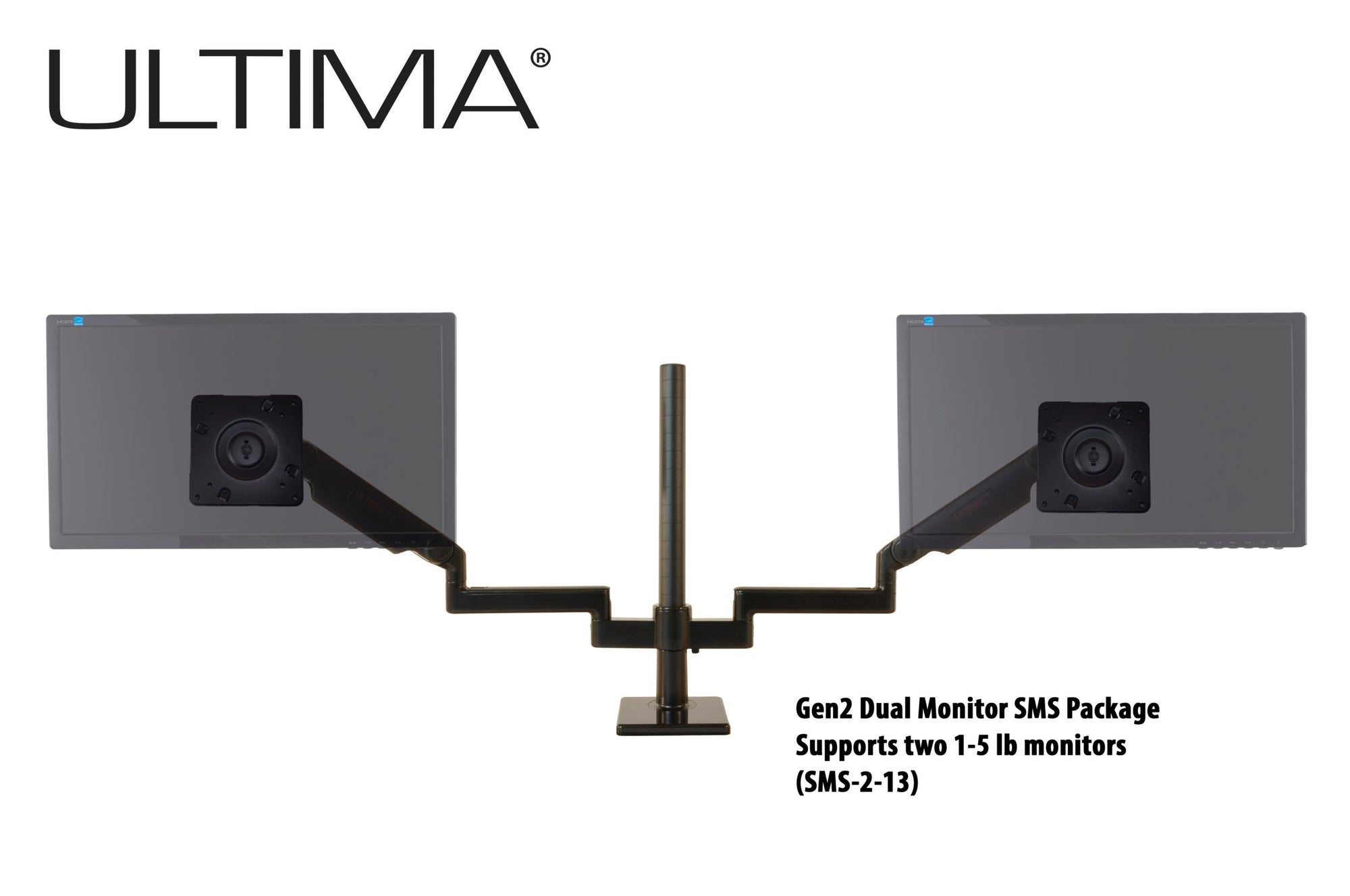 OC White SMS-2-13 & SMS-LD-2-13 Series ProBoom® Ultima® Gen2 Dual Monitor SMS Package - 305broadcast