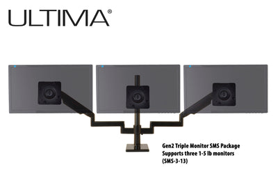 OC White SMS-3-13 & SMS-LD-3-13 Series ProBoom® Ultima® Gen2 Triple Monitor SMS Package - 305broadcast