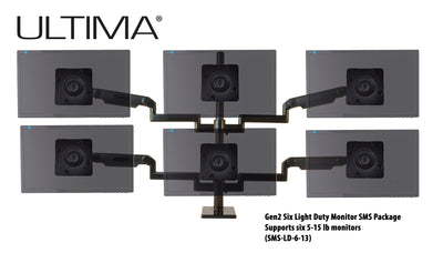 OC White SMS-6-13 & SMS-LD-6-13 Series ProBoom® Ultima® Gen2 Six Monitors SMS Package