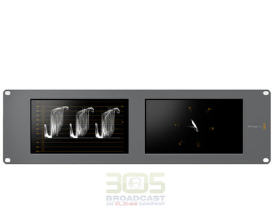 Blackmagic Design SmartScope Duo 4K Rack-Mounted Dual 6G-SDI Monitors