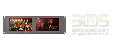 "Blackmagic Design SmartView Duo Rackmountable Dual 8"" LCD Monitors - 305broadcast"