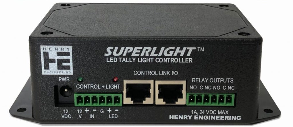 Henry Engineering SUPERLIGHT - LED TALLY LIGHT CONTROLLER - 305broadcast