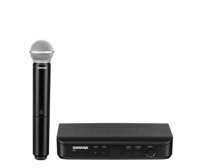 Shure BLX24/PG58 Wireless Microphone System with PG58 Handheld Vocal Mic, H10 - 305broadcast