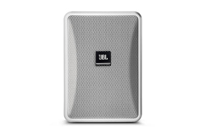 JBL Professional Ultra-Compact 8-Ohm Indoor/Outdoor Background/Foreground Speaker, White, Sold as Pair - 305broadcast