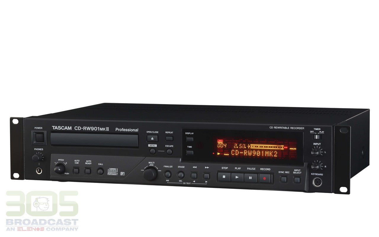 Tascam CD-RW901MKII Professional CD Recorder with Balanced I/O