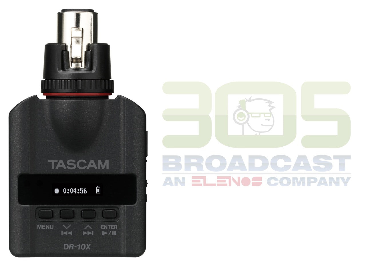 Tascam DR-10X Mini Portable Recorder for XLR Microphone - 305broadcast