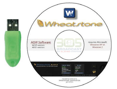 Wheatstone WheatNet IP 4 Channel PC Driver Software - 305broadcast