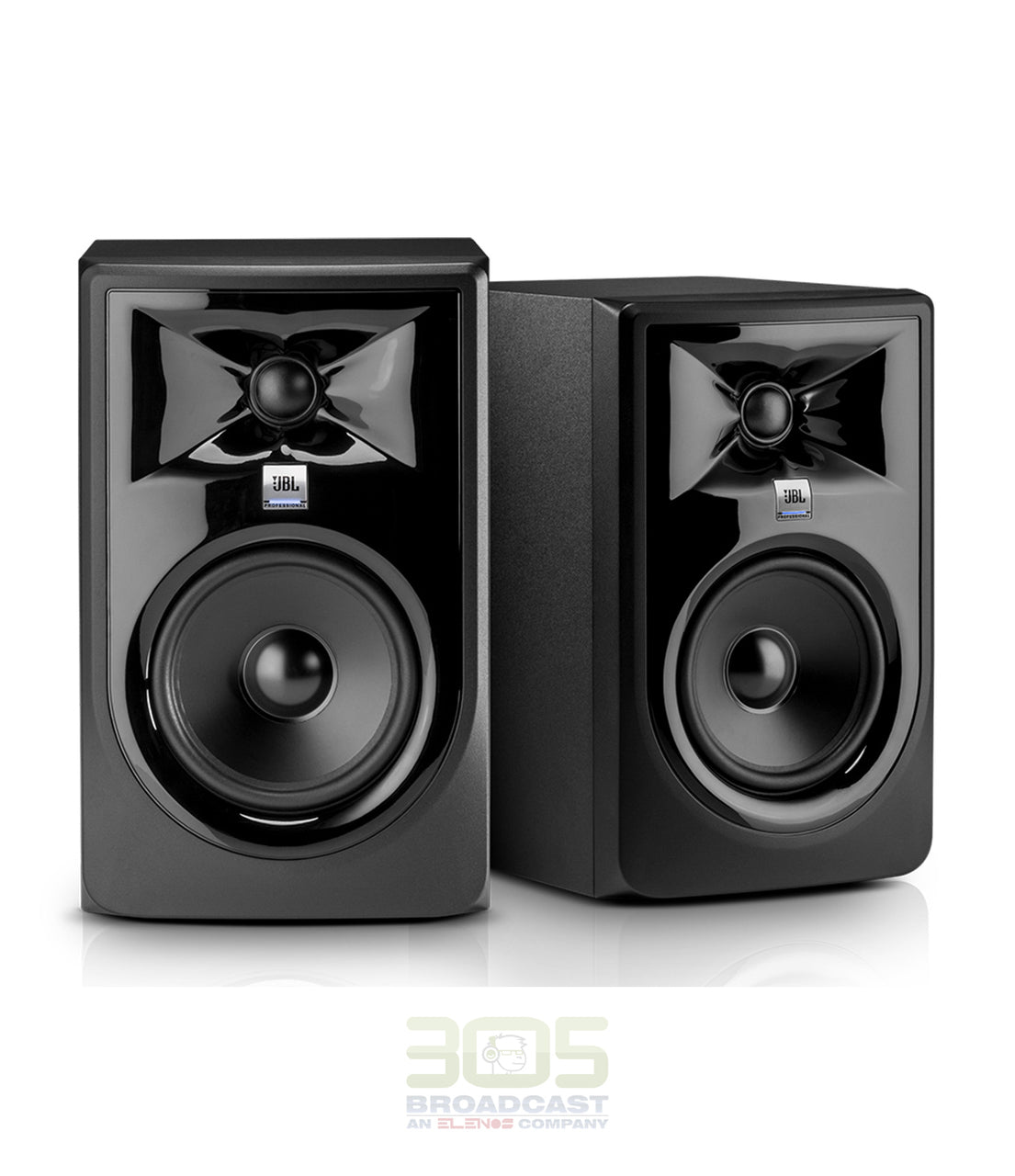 JBL Professional 308P MkII Next-Generation 8-Inch 2-Way Powered Studio Monitor - 305broadcast