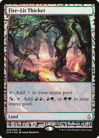 Fire-Lit Thicket [Zendikar Expeditions] | The Garage: Games & Geekery