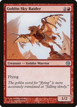 Goblin Sky Raider [Duels of the Planeswalkers] | The Garage: Games & Geekery