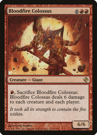Bloodfire Colossus [Duel Decks: Venser vs. Koth] | The Garage: Games & Geekery