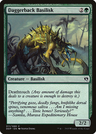 Daggerback Basilisk [Duel Decks: Zendikar vs. Eldrazi] | The Garage: Games & Geekery