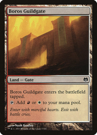 Boros Guildgate [Duel Decks: Heroes vs. Monsters] | The Garage: Games & Geekery