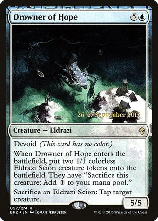 Drowner of Hope [Battle for Zendikar Promos (pre release)] | The Garage: Games & Geekery