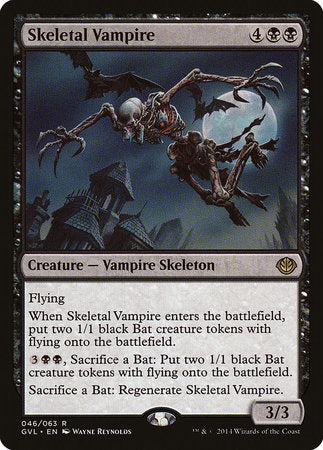 Skeletal Vampire [Duel Decks Anthology: Garruk vs. Liliana] | The Garage: Games & Geekery