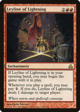 Leyline of Lightning [Guildpact] | The Garage: Games & Geekery