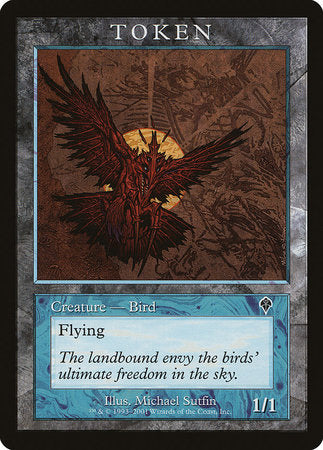 Bird Token (Invasion) [Magic Player Rewards 2001] | The Garage: Games & Geekery
