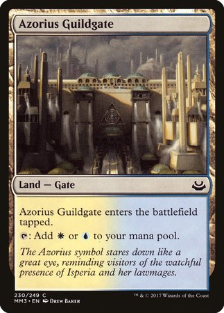 Azorius Guildgate [Modern Masters 2017] | The Garage: Games & Geekery