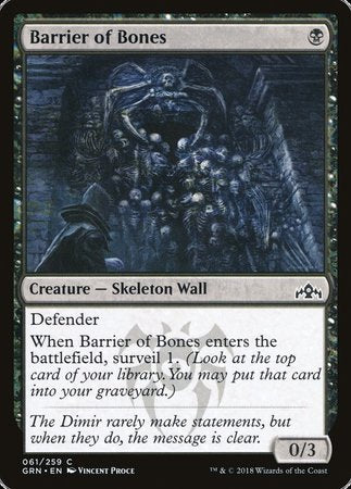 Barrier of Bones [Guilds of Ravnica] | The Garage: Games & Geekery