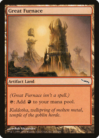 Great Furnace [Mirrodin] | The Garage: Games & Geekery