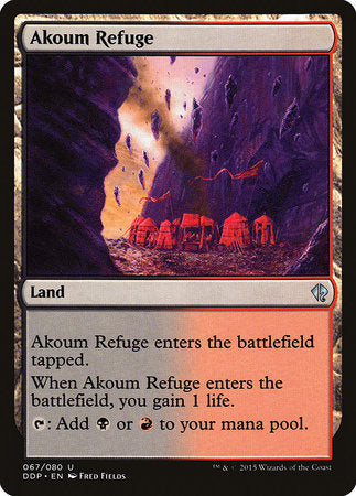 Akoum Refuge [Duel Decks: Zendikar vs. Eldrazi] | The Garage: Games & Geekery