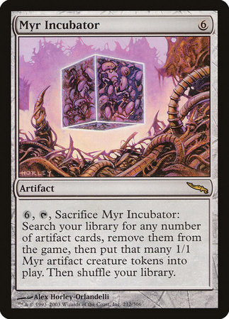 Myr Incubator [Mirrodin] | The Garage: Games & Geekery
