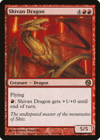 Shivan Dragon [Duels of the Planeswalkers] | The Garage: Games & Geekery