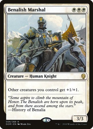 Benalish Marshal [Dominaria] | The Garage: Games & Geekery
