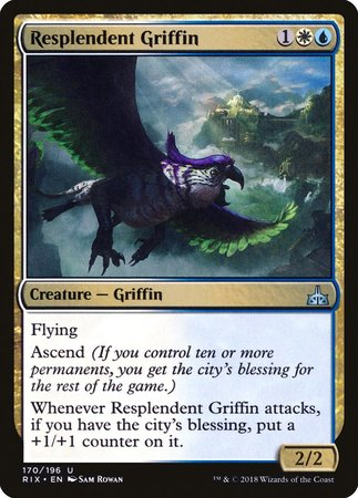 Resplendent Griffin [Rivals of Ixalan] | The Garage: Games & Geekery