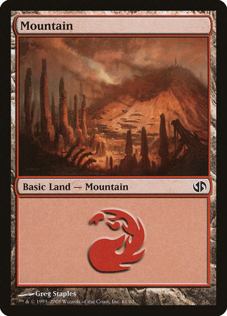 Mountain (61) [Duel Decks: Jace vs. Chandra] | The Garage: Games & Geekery