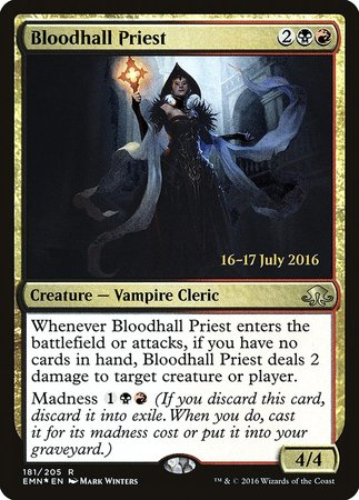 Bloodhall Priest [Eldritch Moon Promos] | The Garage: Games & Geekery