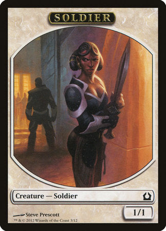 Soldier Token [Return to Ravnica Tokens] | The Garage: Games & Geekery
