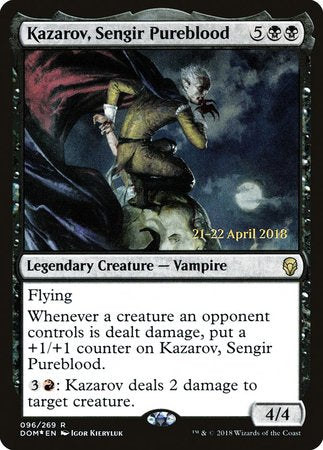 Kazarov, Sengir Pureblood [Dominaria Promos] | The Garage: Games & Geekery