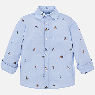 Jockey Print Button Down Shirt