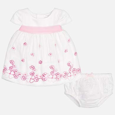 Embroidered Tulle Dress/ Bloomers Set