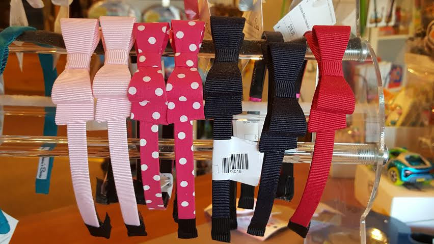 Grosgrain Side Bow Headband