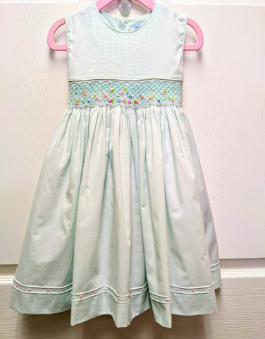 Smocked Dress with Pintucks