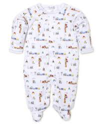 All Aboard Print Footie & Bib Set