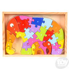 Wooden Elephant Numbers Puzzle