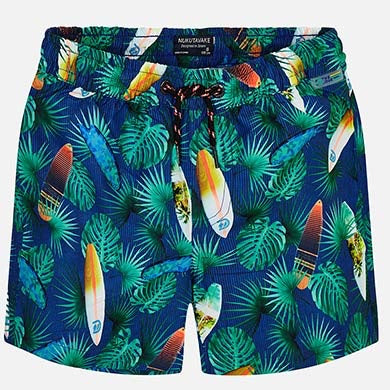 Surfboard Print Swim Trunks
