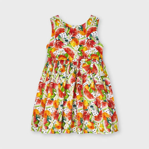 Persimmons and Watermelons Print Dress