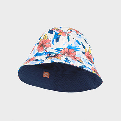 Reversible Floral/ Navy Hat