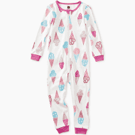 Sweet Scoops Patterned Long Sleeve Baby Pajamas