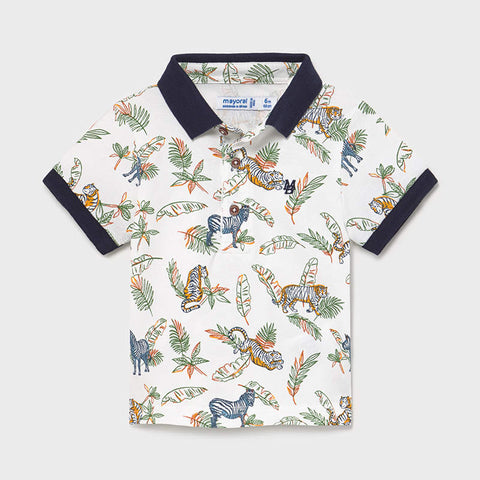 Jungle Safari Print Polo