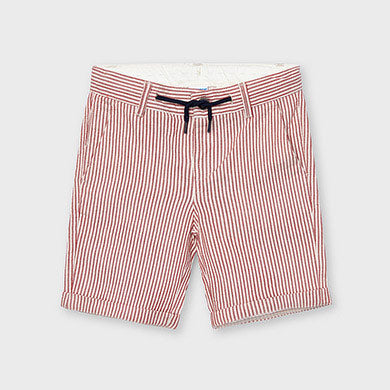 Striped Linen Drawstring Short