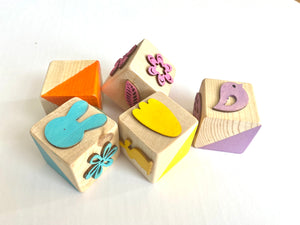 Wooden 3 sided stamper blocks