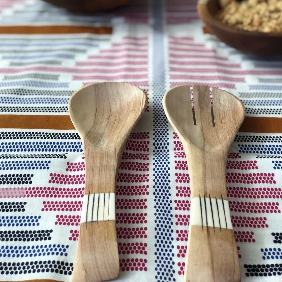 Wood Salad Server Set